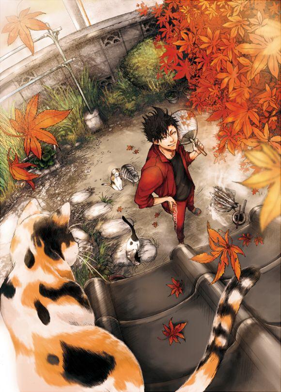 Pixiv Id 5986168, Haikyuu!!, Kuroo Tetsurou, Aerial View, Looking Up, Fan