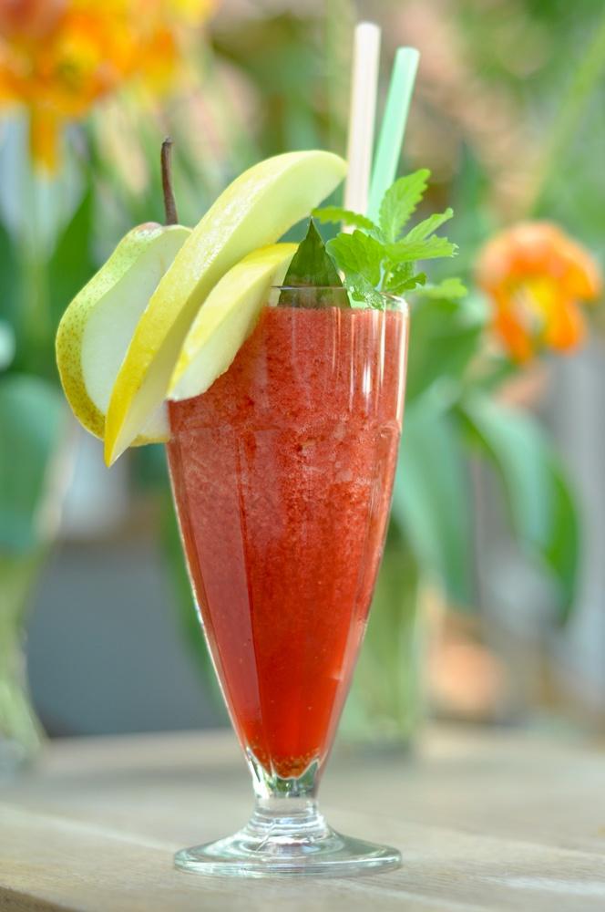 Granita strowberries and banana #granita #drinks #summer #fruits
