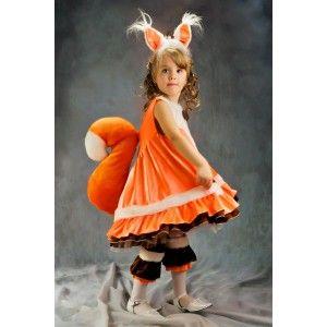 Детский карнавальный и маскарадный костюм Белочки 2967, 4524