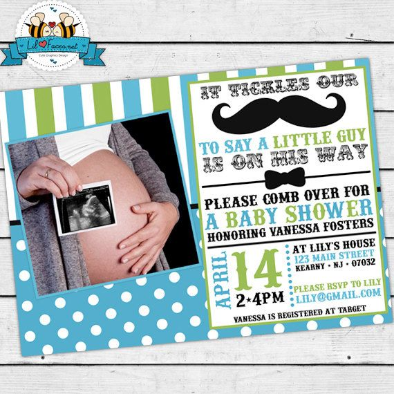 baby shower photos diy invitations man mustaches baby shower1 little