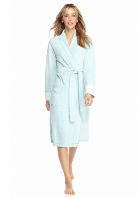 N Natori Teal Brushed Terry Robe - PC4016