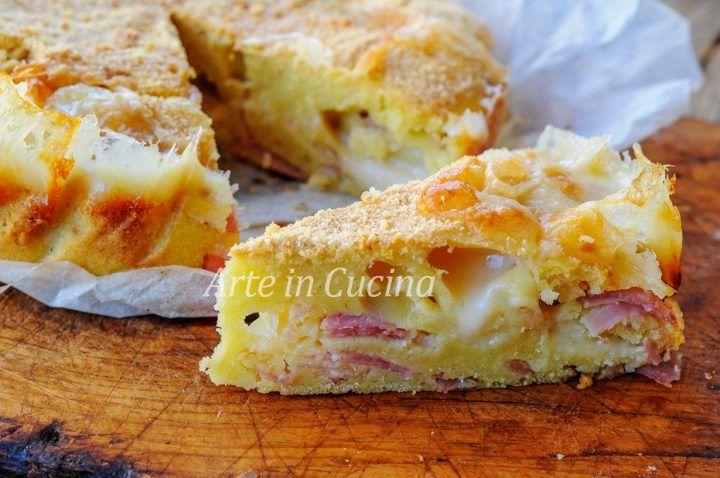 Torta 5 minuti salata al prosciutto e formaggio, piatto unico semplice e delizioso.