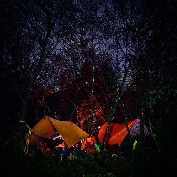 Gelap malam bisa di nikmati bersama hangat api unggun dan kopi  #camp #camping #campfire #flysheet #hammock #hammocklife #lifefolk #journey #adventure #explorer #mountain #jungle #night #indopendaki #pendakiindonesia #gunung #hutan #instanusantara #indonesia by @gunturelka