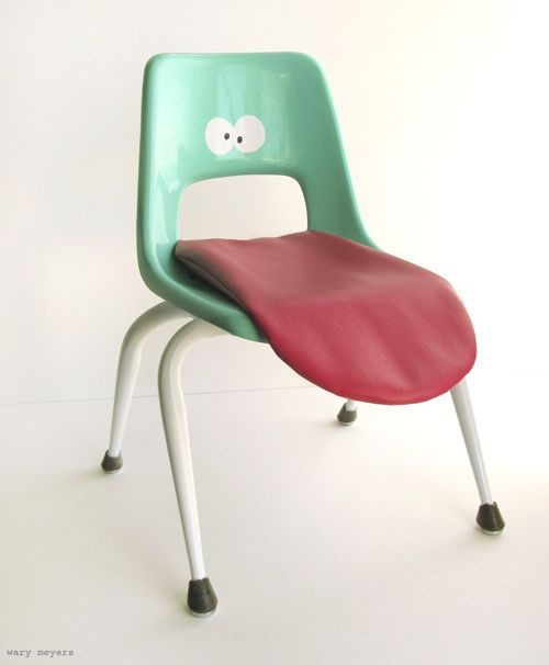 Fun! A chair with character - would be fun for a bright novelty kids room.  #interiordesign