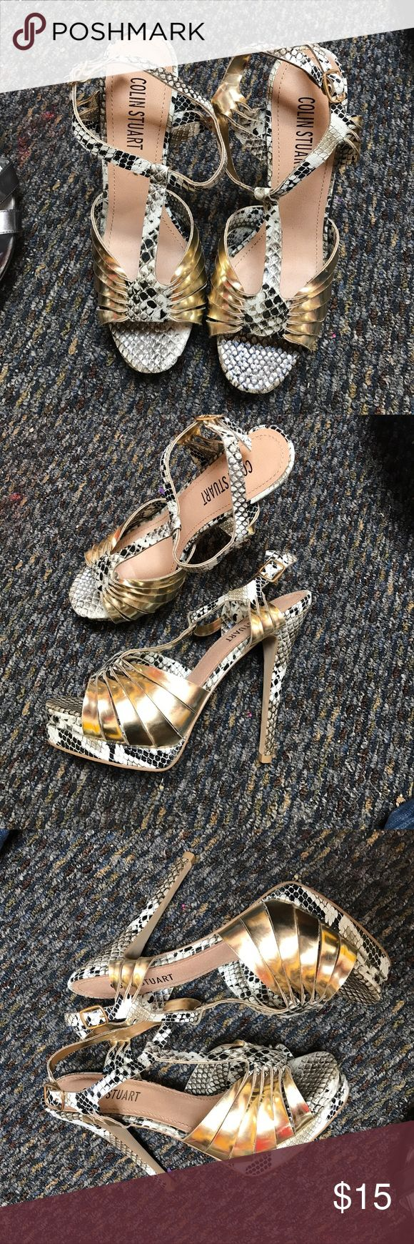 Colin Stuart Heels Great condition like new Colin Stuart heels I purchased from Victoria secret catalogue Colin Stuart Shoes Heels