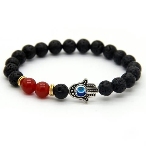 Hamsa Bracelet with Red Corals - DecorusCPH