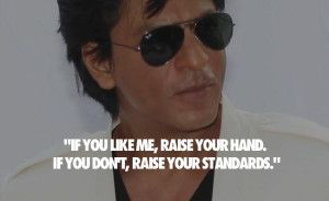 King of bollywood #Shahrukh khan #inspirational quotes