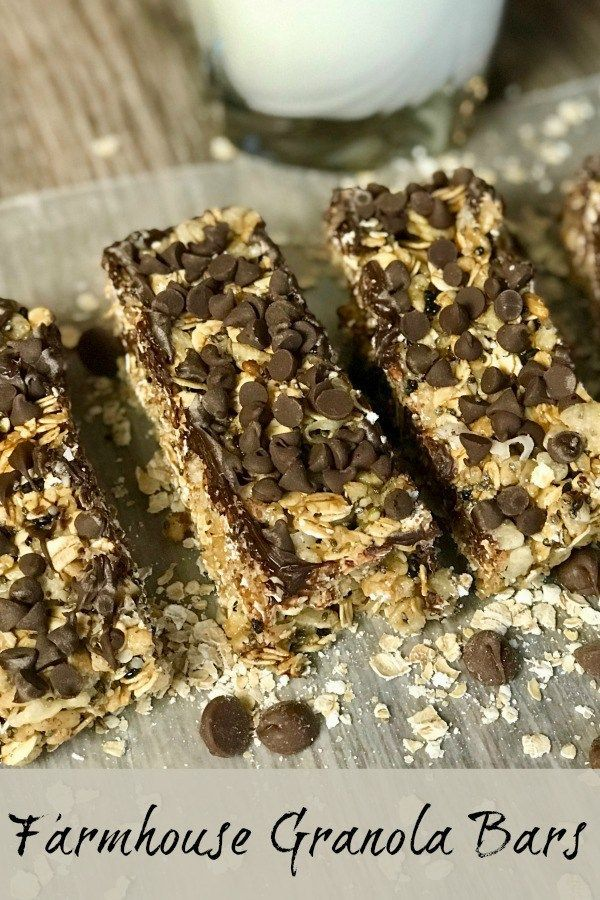 Homemade Granola Bars Make A Great Breakfast And A Healthy Snack For Kids Throughout The Day Healthysnack Chocolate Snack Homemade Granola Bars Granola Bars Granola