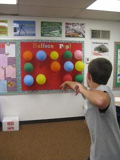 Classroom rewards balloon pop!