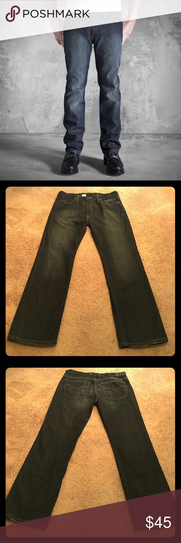 ⚡FLASH SALE⚡NWOT Harley-Davidson Black Label jeans NWOT genuine Harley-Davidson high end black label jeans. These are a slim straight leg fit with a dark indigo slightly worn look to the wash. Men's size 34X30. Bought just before friend lost a ton of weight and never worn! Selling for friend so cannot negotiate as much. Harley-Davidson Jeans Slim Straight