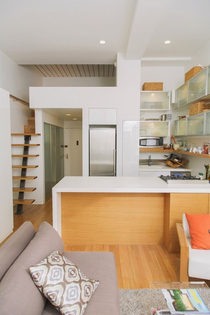 ANTES E DEPOIS: REFORMA TRANSFORMOU TUDO NO MINI LOFT. Small Kitchen  DesignsKitchen ...