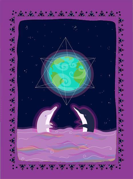 #synchronizers  #merkaba #dolphins #planet #otherworlds #otrosmundos #delfines #illustration #ilustracion #planetearth