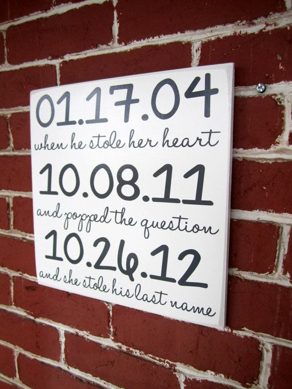 12 x 12 Most Important Dates Sign  Wedding by JolieMaeCollections, $25.00