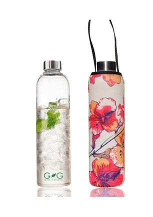 BBBYO - Glass Is Greener Bottle 750 ml + Carry Cover (Stem Print) -750 ml