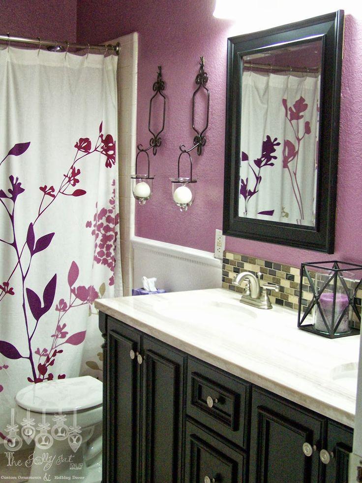 Purple Bathroom Decorating Ideas Pictures: 33 Best Purple Bathroom Images On Pinterest