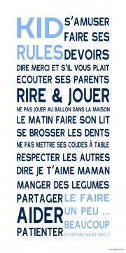 les affiches adhésives Mes Mots Déco® #deco #chambre #poster #enfant #typo #stickers #citation #mur