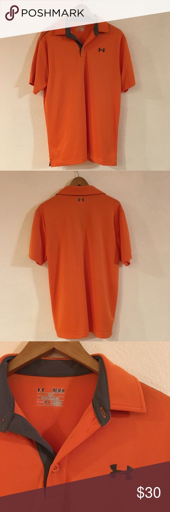 Under Armor Orange Polo Shirt Under Armor Orange Polo Shirt. Size Medium. Has collar. Brand new without tags. Originally purchased at Macy's. Under Armour Shirts Polos