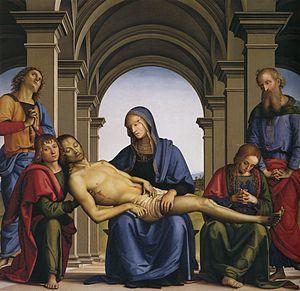 Pietro Perugino - Pietà, c. 1490.