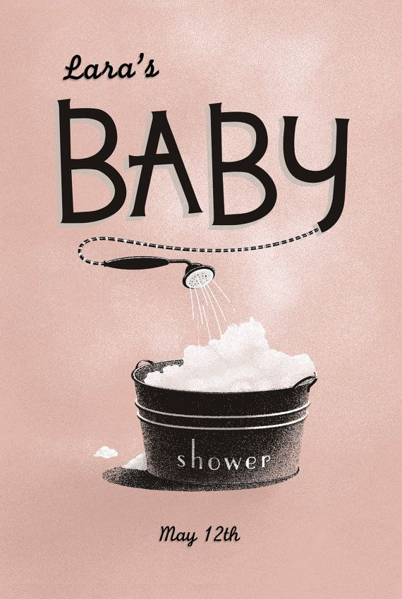 Sessle B's Printable Vintage Baby Shower Invites (Customised for you) ... In Dusty Pink on Etsy, $20.00 AUD