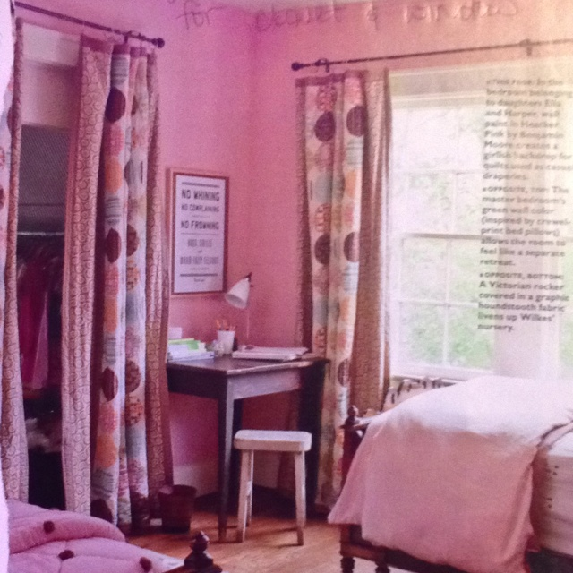 Matching Set Of Floor Curtains For Closet And Window Dream Home Decor Bedroom Pink Room