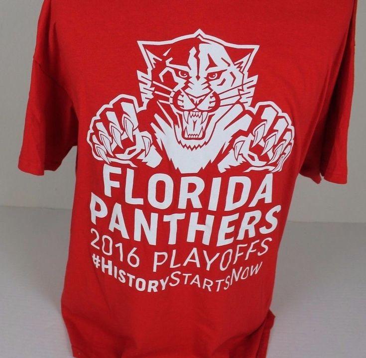 2016 FLORIDA PANTHERS NHL HOCKEY PLAYOFFS T-SHIRT XL #HISTORYSTARTSNOW RED  #Gildan #FloridaPanthers