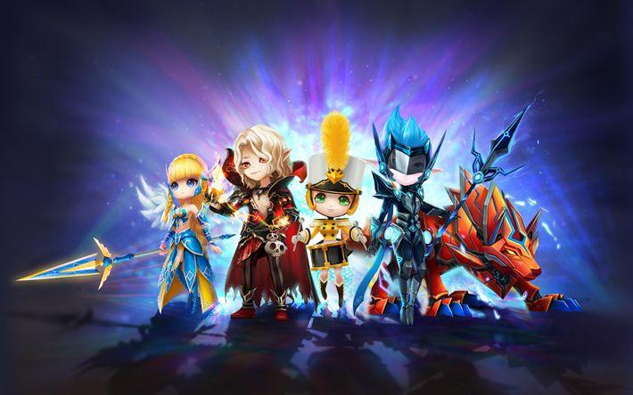 Download wallpapers Summoners War Sky Arena, 4k, characters, Irene, online game