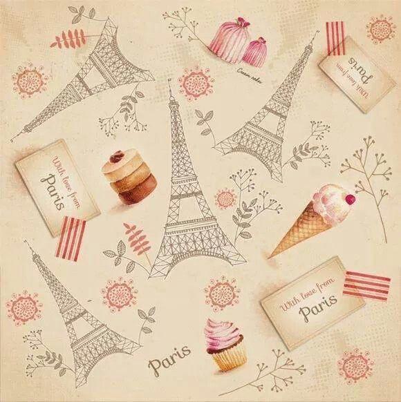 helados ,cupcakes y `Paris