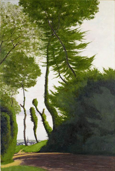 フェリックス・ヴァロットン オンフルールの眺め、夏の朝