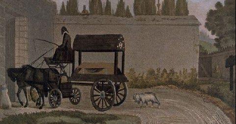 stampa francese dell'800, raffigurante il funerale di un povero: apparteneva a Beethoven che la conservò in ricordo del funerale di III classe col quale fu condotta la salma di Mozart, uno dei maggiori geni musicali di tutti i tempi, al cimitero di Sain Marx