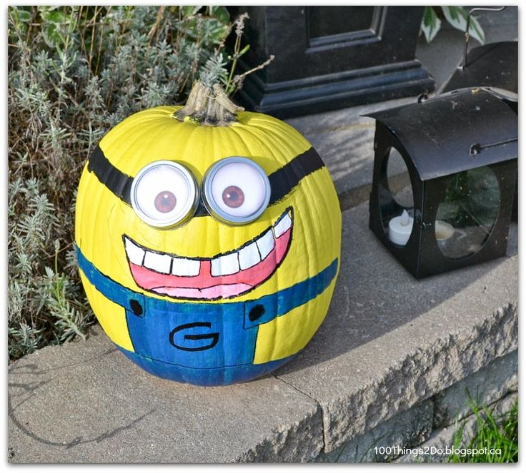 it 39 s time to get your carve on painting pumpkins minion On minion halloween decoration ideas