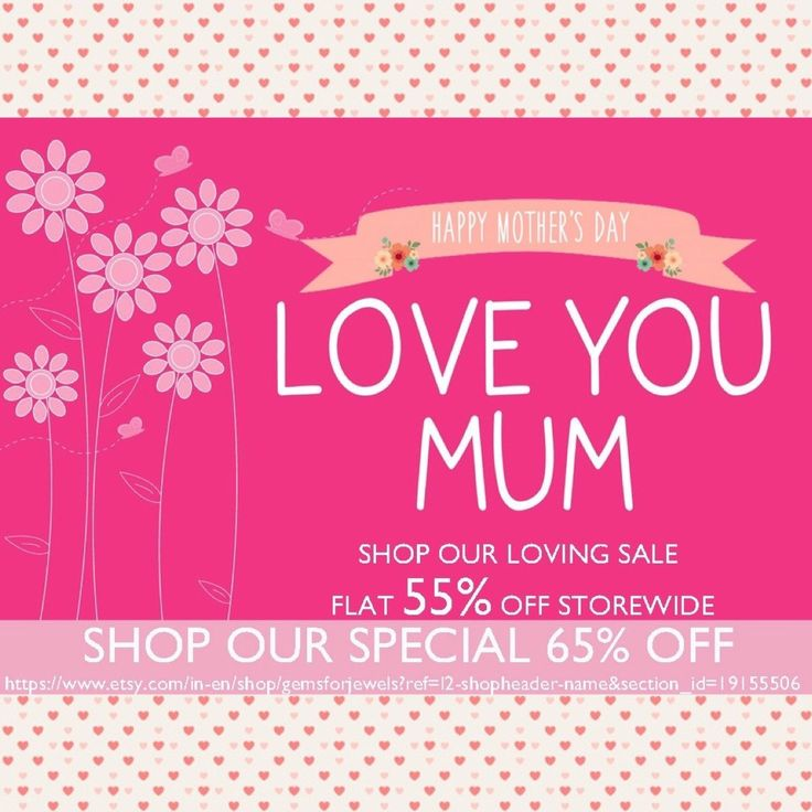 Gemsforjewels wishes all the beautiful Moms - Happy Mother's Day! Shop our special sale at 55% & 65% off.  Mums the world to me..