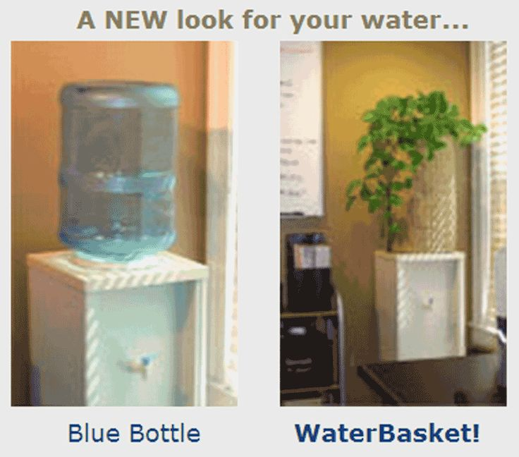 Before and after, a water cooler bottle cover that transforms water dispensers in homes and offices!
