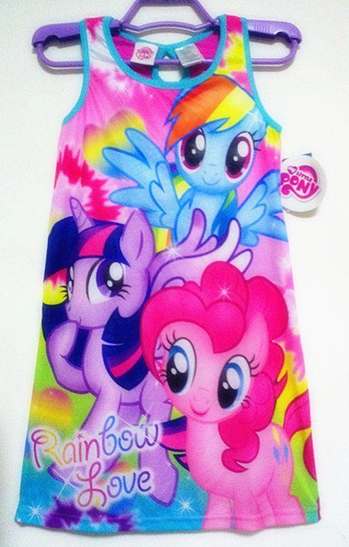 2015 New baby girls my little pony Fashion princess flower dress summer casual for kids children roupas infantil meninas