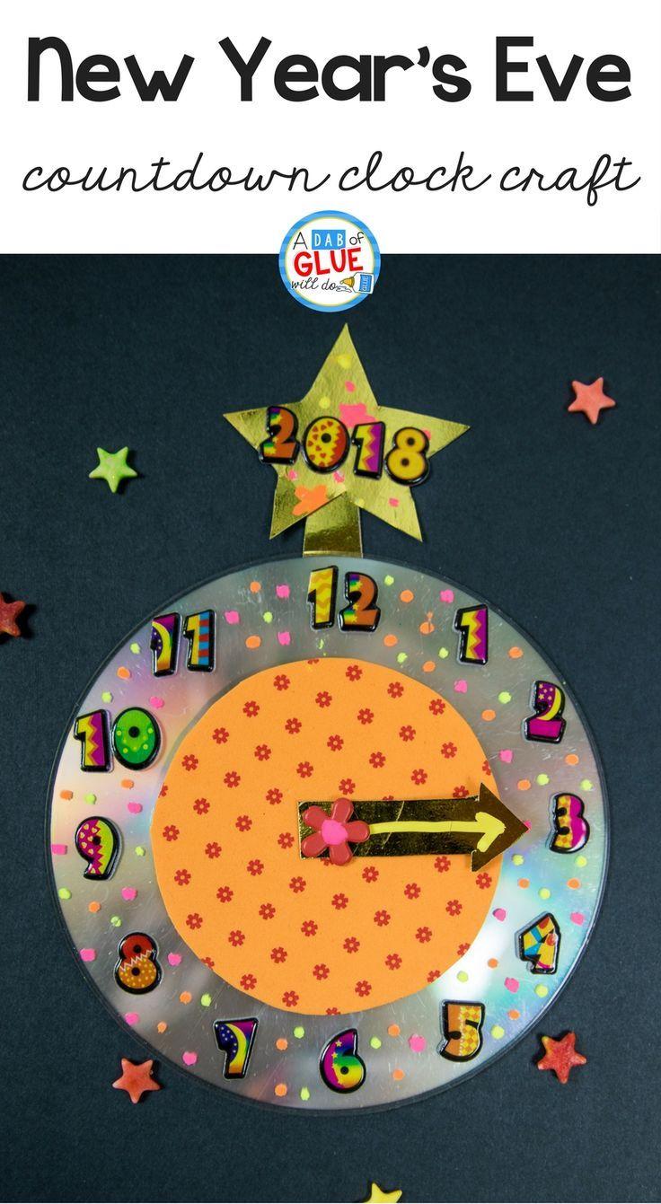 New Year's Eve Countdown Clock Craft Clock craft, New