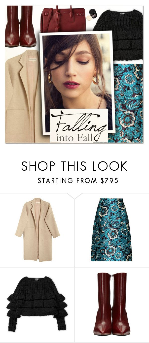 """Oh souvenir charmant, folle ivresse, doux rêve!"" by vampirella24 ❤ liked on Polyvore featuring Mara Hoffman, Dolce&Gabbana, Vetements, Yves Saint Laurent, Fall, floral, booties, beige and brocade"