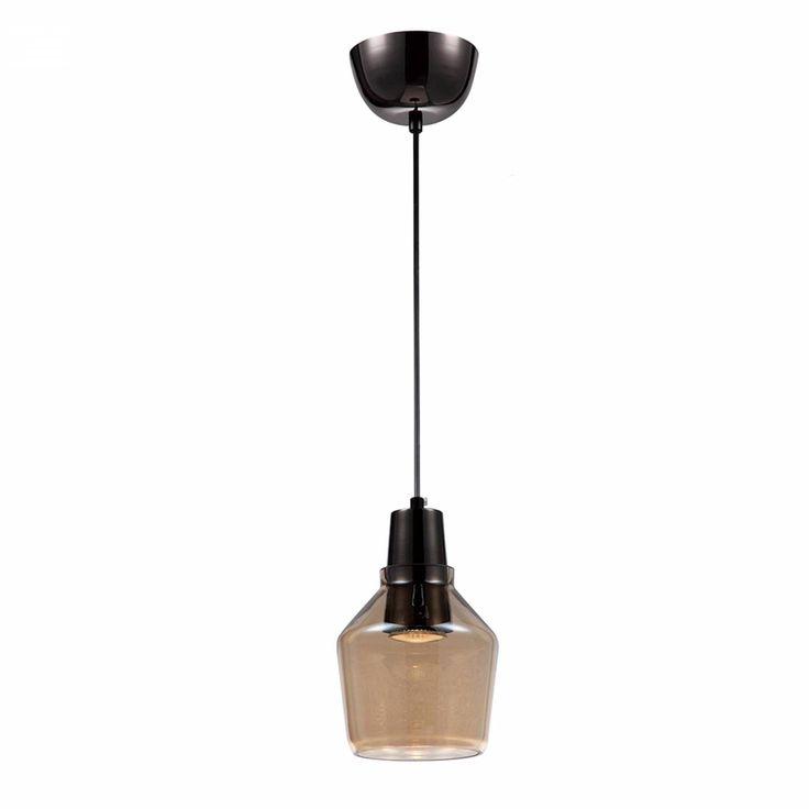 pendente GLASS DROP 1Xdicroica âmbar Bella OP030A / dimensões: diâm. 11cm, alt. 16cm / IP20 área interna / vidro âmbar / para 1 lâmpada dicroica gu10 pino grosso / lâmpada não inclusa / 1 ano de garantia / Bella / OP030A