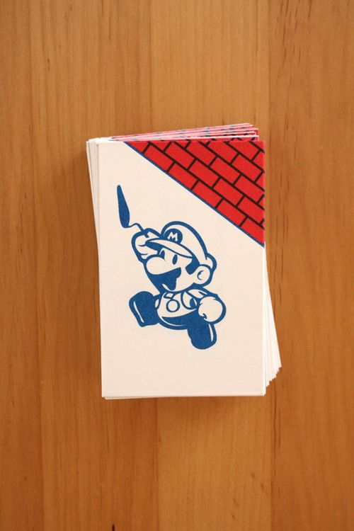 Super Mario Business card by Moreno Tuttobene