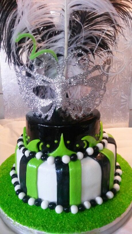 21st Mascarade cake
