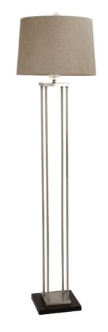 4-Poster Brushed Nickel With Acrylic Ball Floor Lamp - Complete Pad ®