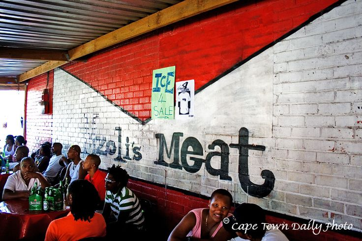 """Meat Shop in the township - purchase your meat and they """"braai"""" it for you right there"""