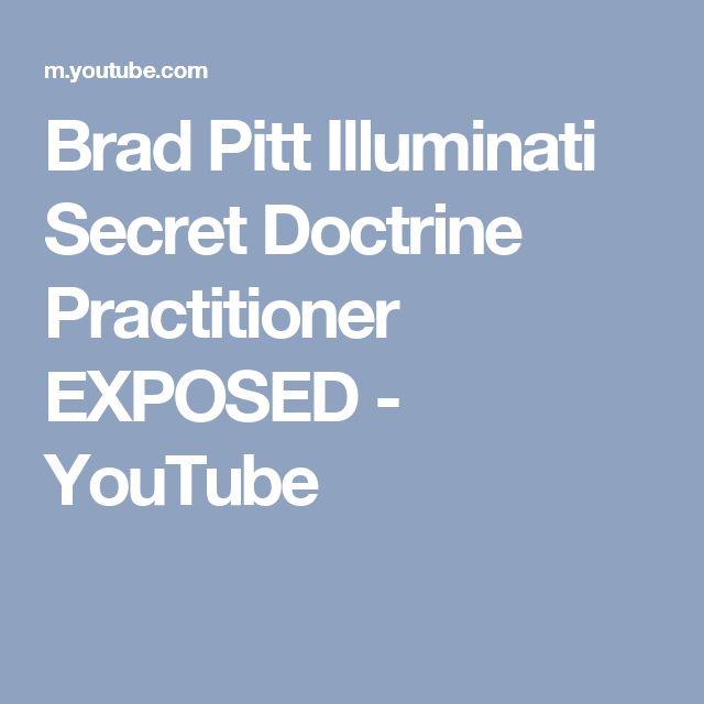 Brad Pitt Illuminati Secret Doctrine Practitioner EXPOSED - YouTube