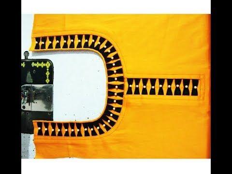 Beautiful Neck Design | Latest Front Neck Design Kurti / Kameez Cutting and Stitching - YouTube