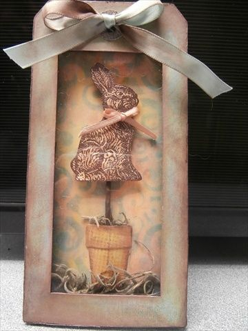 Easter Shadowbox Tag by Beedle - Cards and Paper Crafts at Splitcoaststampers