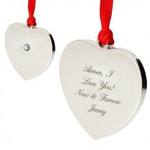 diamante heart christmas tree decoration