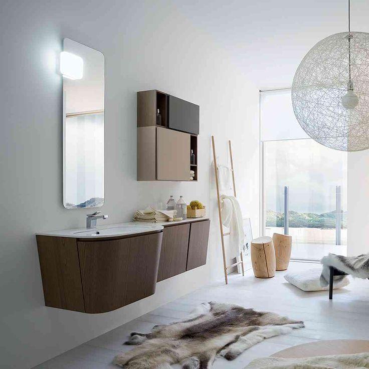 #Suede di @cerasabagni è la soluzione ideale per #arredare il tuo #bagno. Il suo stile é caratterizzato dall'alternanza di finiture ed elementi con anta e a giorno, che arredano alleggerendo visivamente la composizione. www.gasparinionline.it #interiors #italiandesign #homestyle #picoftheday #interiors #italiandesign