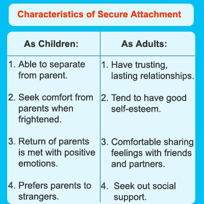 infants secure attachment to different caregivers social work essay Discuss conditions that may lead to insecure attachment between infants and caregivers lead to insecure attachment between infants and work and timely.
