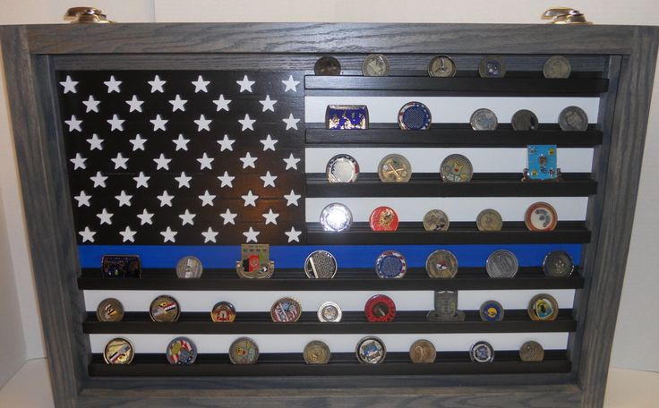 Thin Blue Line Coin Case Challenge Coin Display Police