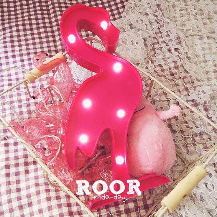 1 pcs Chic Flamingo Abacaxi LED Nightlight Decoração luz Lâmpadas LED Sinal Marquise Animal Dos Desenhos Animados crianças decoração da sala lâmpada s2 em   de   no AliExpress.com | Alibaba Group