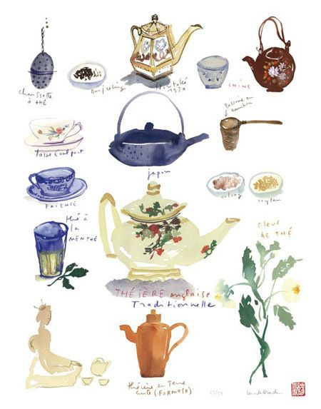 花,Food illustration - artist study , How to Draw Food, Artist Study Resources for Art Students, CAPI ::: Create Art Portfolio Ideas at milliande.com , Inspiration for Art School Portfolio Work, Food, Drawing Food, Sketching, Painting, Art Journal, Journaling, illustration teapot,coffee pot,