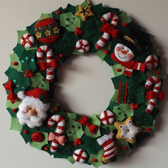 Guirlanda de Natal Papai Noel